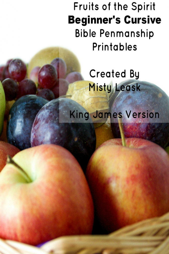 Beginner's Cursive Fruit of the Spirit Penmanship