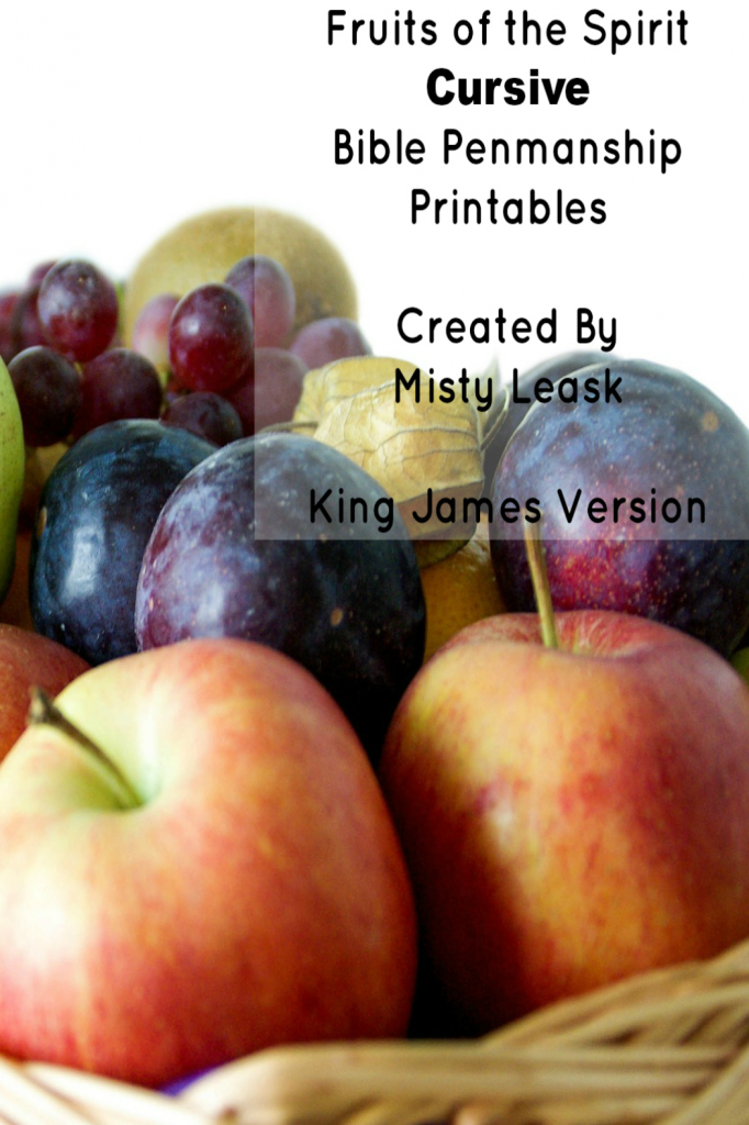Cursive Fruit of the Spirit Penmanship