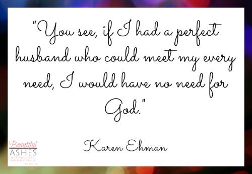My favorite quote from Karen Ehman's book, Let It Go