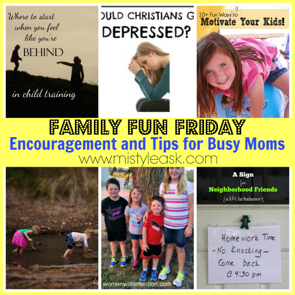 Busy moms need encouragement and tips quick as a wink!