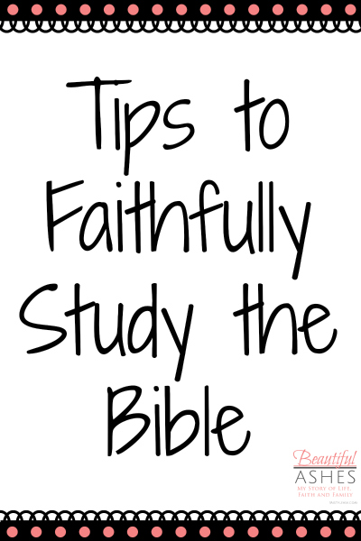 Taking time to study the Bible faithfully requires commitment.