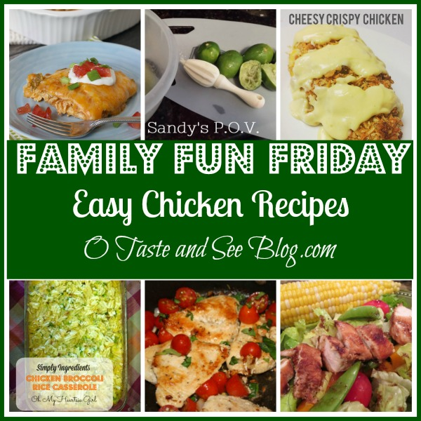 Busy moms need easy recipes! Check out these great chicken recipes!