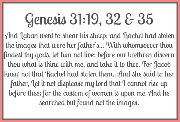 Genesis 31:19, 32-35