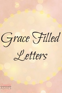 Announcing my new series, Letters of Grace, featured at Shining Authentic Grace