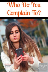 Who Do You Complain To - By Misty Leask