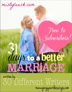 31 Days to a Better Marriage (Fall 2014 Series)