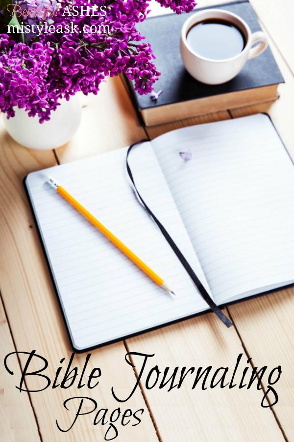 Bible journaling pages. Bible journaling