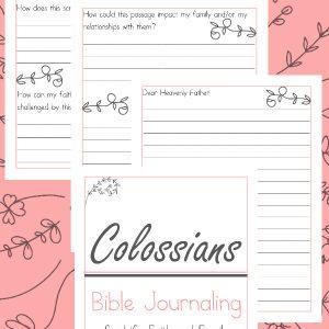 Colossians Bible Journaling, Colossians Bible Study for women, Colossians Bible Study