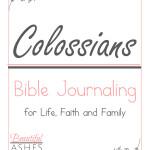 Colossians Bible Journaling