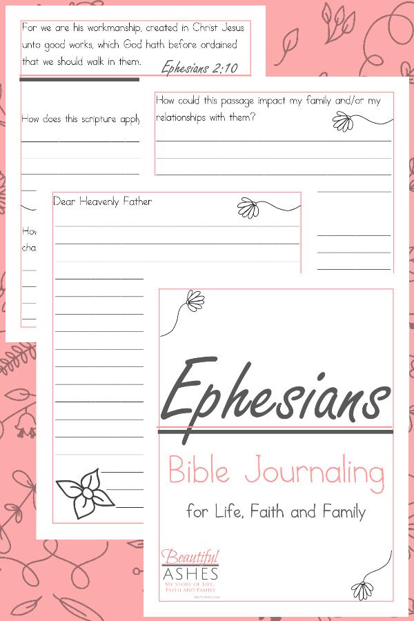 Ephesians Bible Journaling, Ephesians Bible Study for women, Ephesians Bible Study