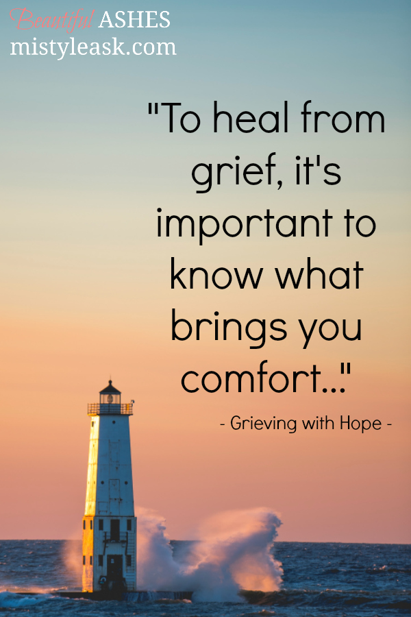 grief, moments of comfort, finding comfort in grief