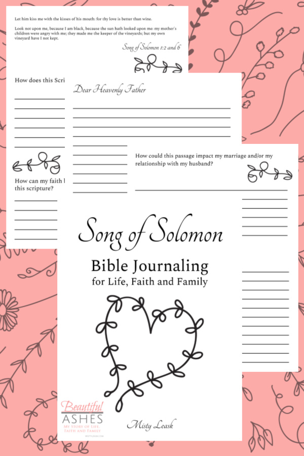 song of solomon bible journaling pages, song of solomon bible journal, song of solomon journal